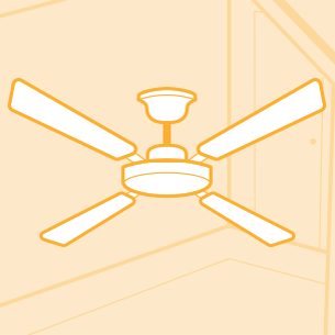 Ceiling Fan for Cooling Drawing
